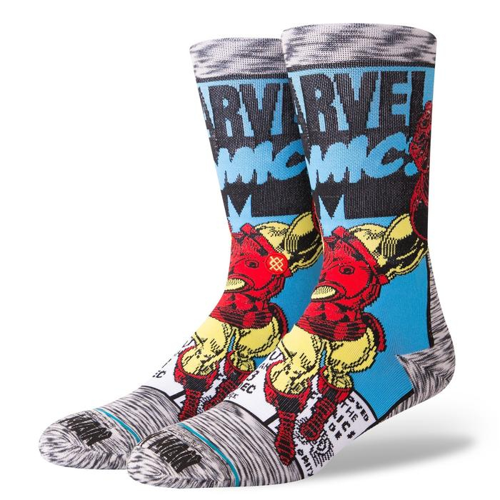 STANCE Iron Man Comic Socks Grey 0