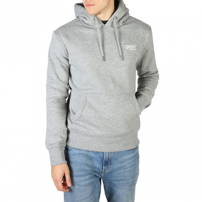 SUPERDRY Orange Label Classic Hoodie Soft Grey Marl 0