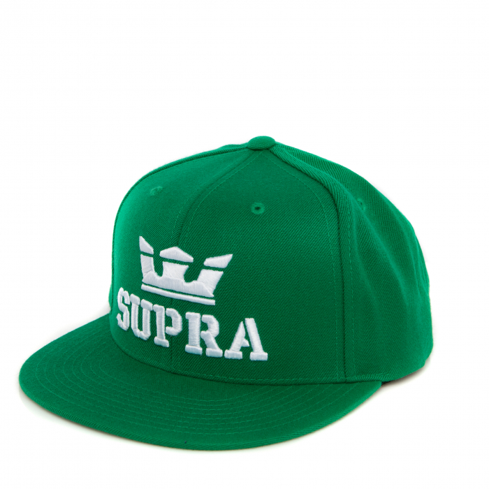 SUPRA ABOVE SNAP BACK HAT GREEN/WHITE-WHITE 0