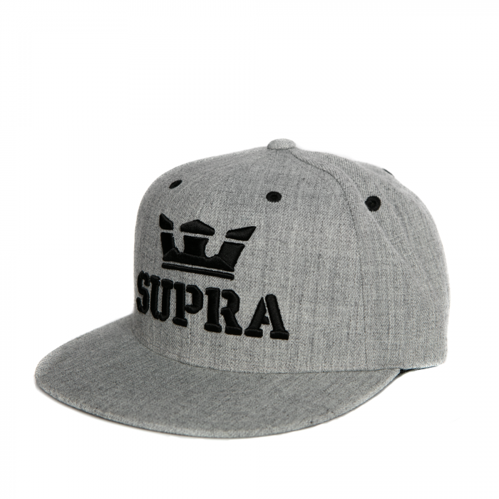 SUPRA ABOVE SNAP BACK HAT GREY HEATHER/BLACK 0