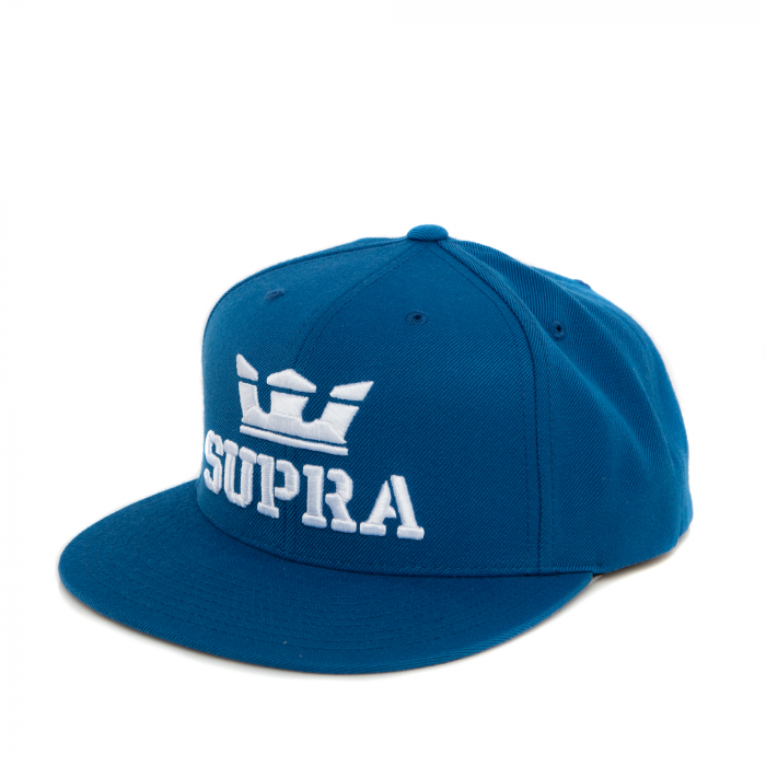 SUPRA ABOVE SNAP BACK HAT OCEAN/WHITE-WHITE 0