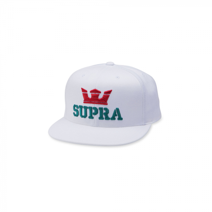SUPRA ABOVE SNAP BACK HAT WHITE/RED/TEAL 0