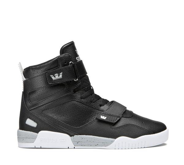 SUPRA BREAKER BLACK-LT GREY/WHITE 0