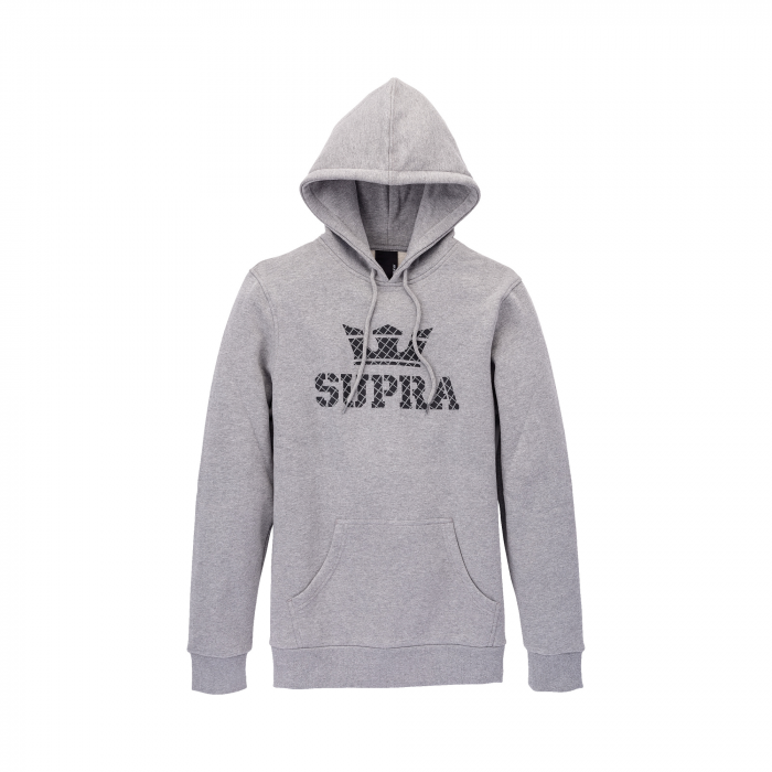 SUPRA ABOVE HOODED PULLOVER HEATHER GREY / GRID 0