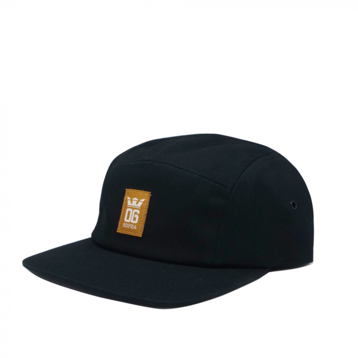 SUPRA OG CROWN 5 PANEL HAT BLACK/TAN/BONE 0