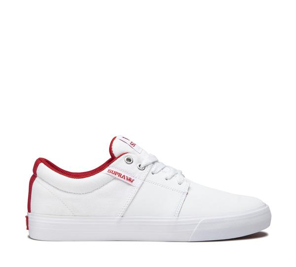 SUPRA STACKS VULC II WHITE/RED-WHITE 0