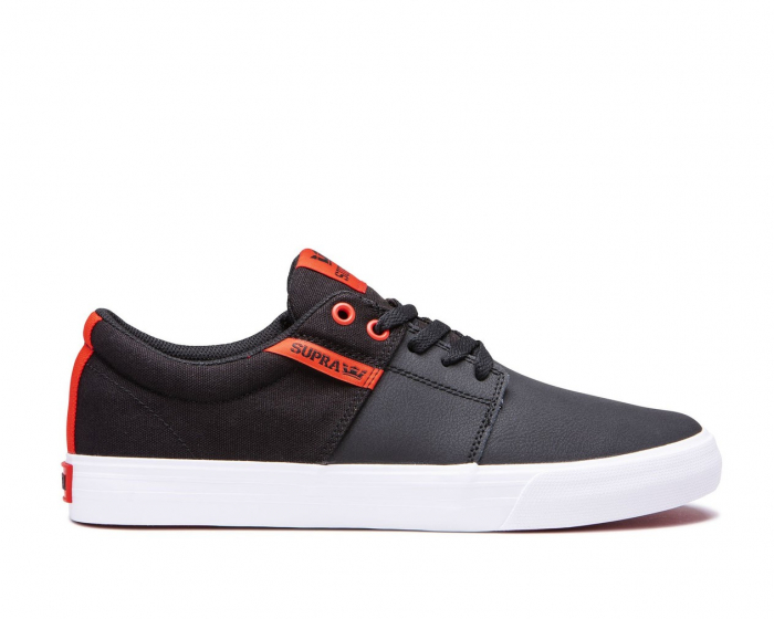 SUPRA STACKS VULC II BLACK/RISK RED-WHITE 0