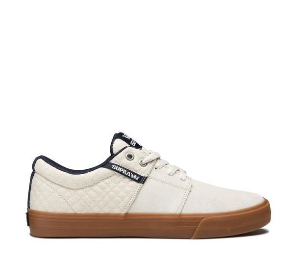 SUPRA STACKS VULC II BONE/NAVY-GUM 0