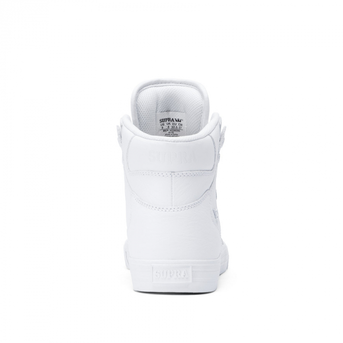 SUPRA VAIDER WHITE / WHITE - RED 2