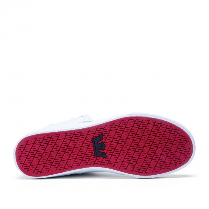SUPRA VAIDER WHITE / WHITE - RED 3