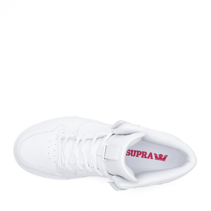 SUPRA VAIDER WHITE / WHITE - RED 1