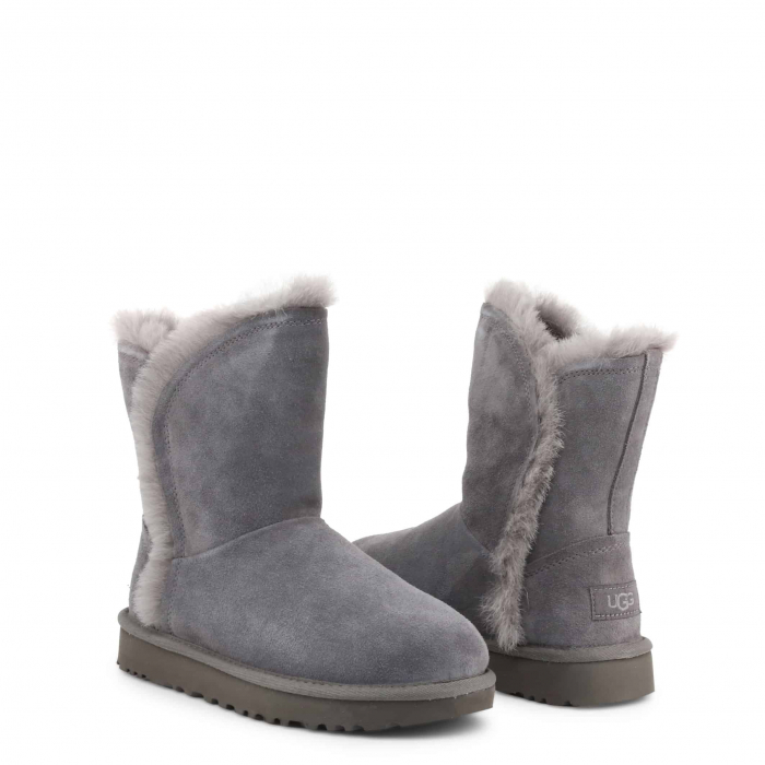 UGG Classic Short Fluff High-Low Boot Grey 1