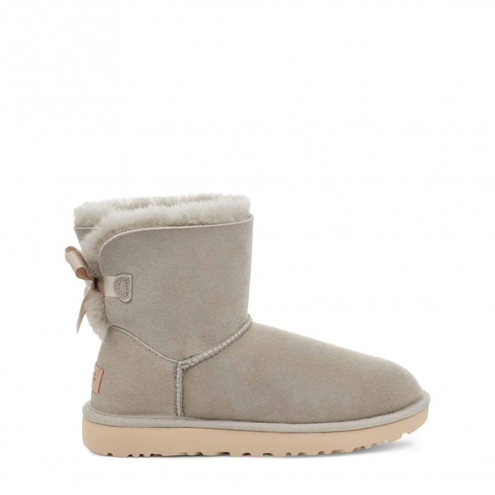 UGG Mini Bailey Bow II Boot Light Grey 0