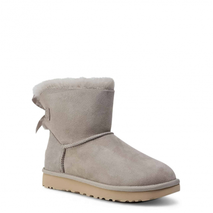UGG Mini Bailey Bow II Boot Light Grey 1