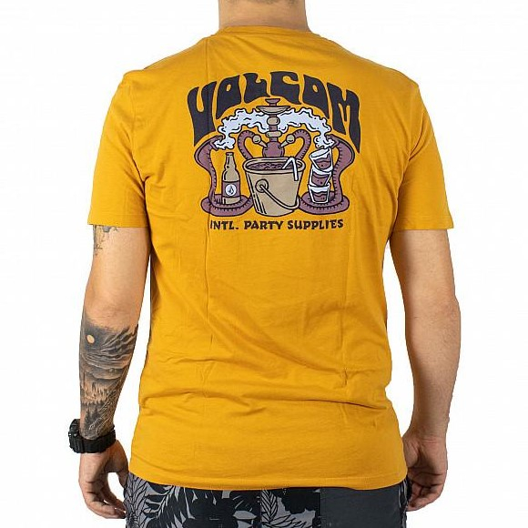 VOLCOM S/S PEARYS LTW T-SHIRT INCA GOLD 1