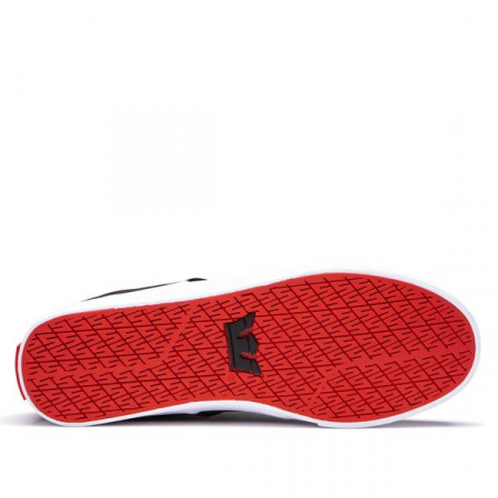 SUPRA STACKS VULC II BLACK/RISK RED-WHITE1