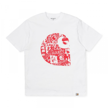 CARHARTT S/S COLLAGE C T-SHIRT WHITE / ETNA RED0