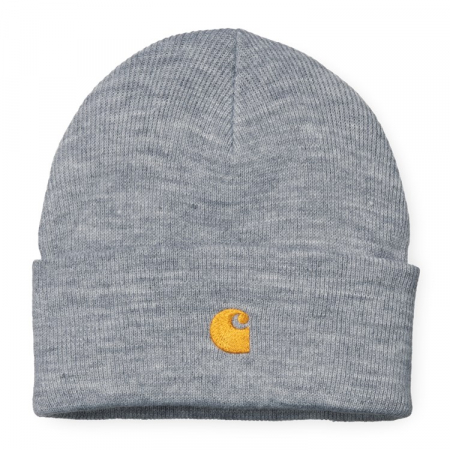 CARHARTT Chase Beanie Grey Heather / Gold0