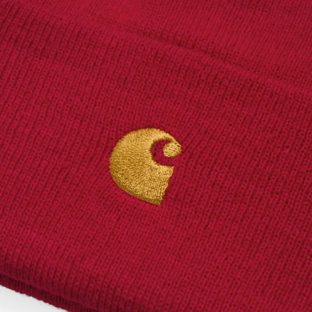 CARHARTT Chase Beanie Etna Red / Gold1