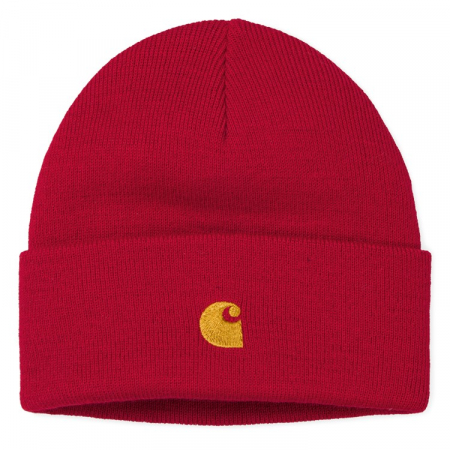 CARHARTT Chase Beanie Etna Red / Gold0