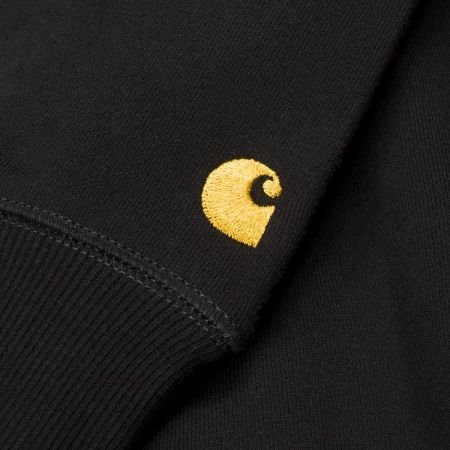 CARHARTT Chase Sweat Black / Gold1