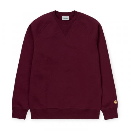CARHARTT CHASE SWEAT MERLOT / GOLD0