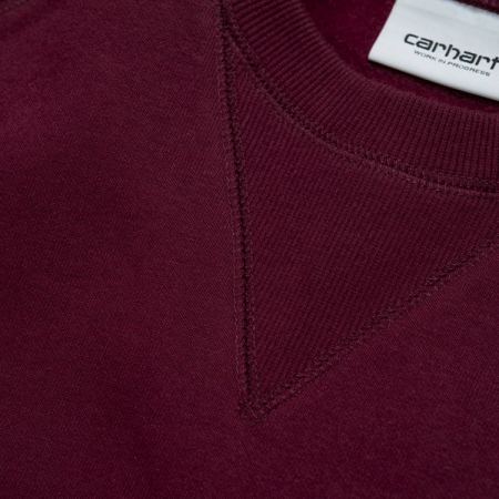 CARHARTT CHASE SWEAT MERLOT / GOLD2