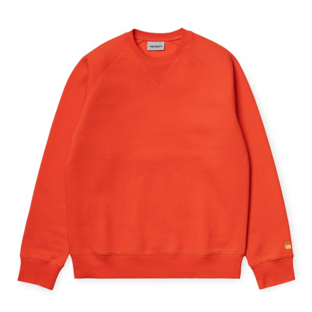CARHARTT Chase Sweat Safety Orange / Gold0