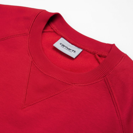 CARHARTT CHASE SWEAT ETNA RED / GOLD1