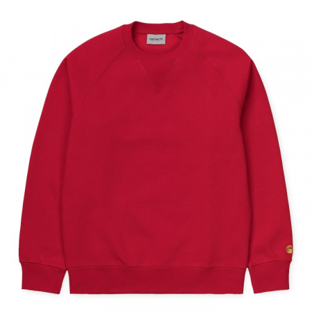 CARHARTT CHASE SWEAT ETNA RED / GOLD0