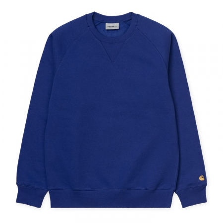 CARHARTT Chase Sweat Thunder Blue / Gold0