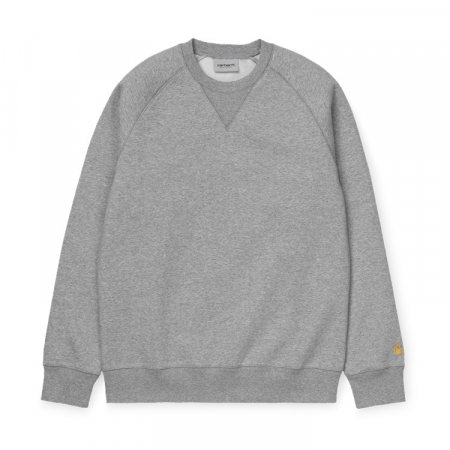 CARHARTT CHASE SWEAT GREY HEATHER / GOLD0