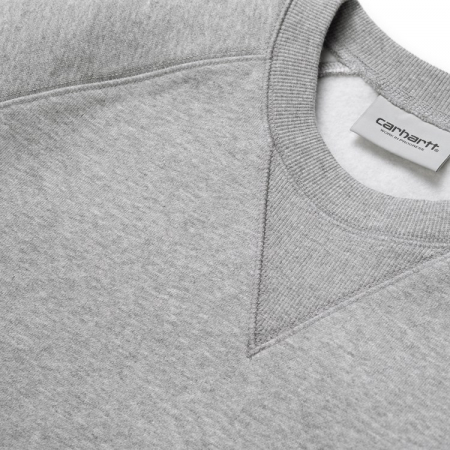 CARHARTT Chase Sweat Grey Heather / Gold1