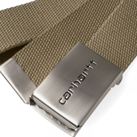 CARHARTT Clip Belt Chrome Leather1