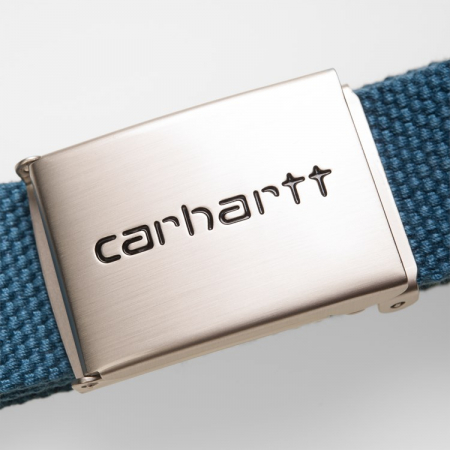 CARHARTT Clip Belt Chrome Prussian Blue1