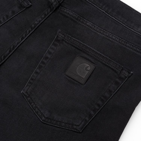 CARHARTT Rebel Pant Black mid worn wash2
