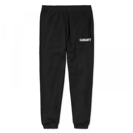CARHARTT COLLEGE SWEAT PANT BLACK / WHITE0