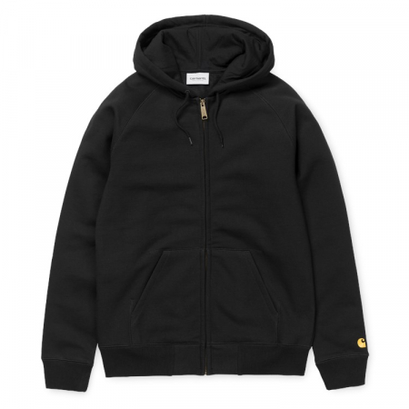 CARHARTT Hooded Chase Jacket Black / Gold0