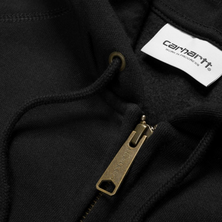 CARHARTT Hooded Chase Jacket Black / Gold1