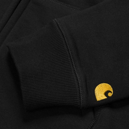 CARHARTT Hooded Chase Jacket Black / Gold2