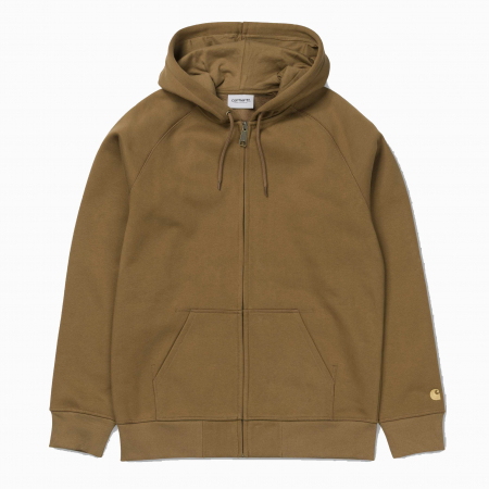 CARHARTT Hooded Chase Jacket Hamilton Brown / Gold0