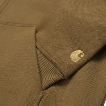 CARHARTT Hooded Chase Jacket Hamilton Brown / Gold2