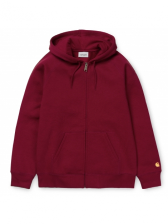 CARHARTT Hooded Chase Jacket Cardinal / Gold0