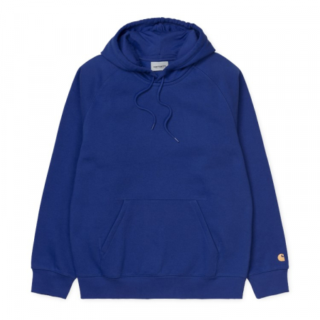 CARHARTT HOODED CHASE SWEAT THUNDER BLUE / GOLD0
