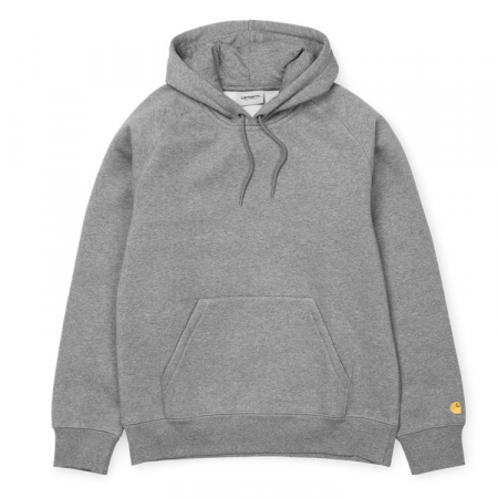 CARHARTT HOODED CHASE SWEAT GREY HEATHER / GOLD0