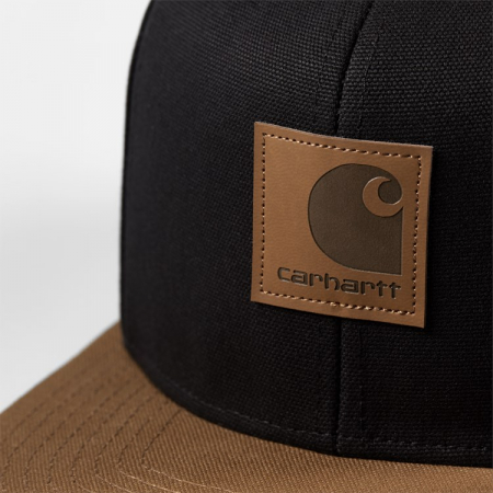 CARHARTT Logo Cap Bi-Colored Black / Hamilton Brown1