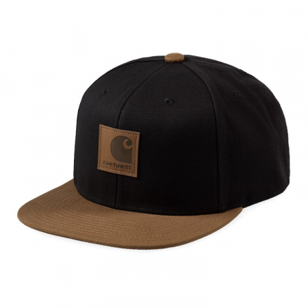 CARHARTT Logo Cap Bi-Colored Black / Hamilton Brown0