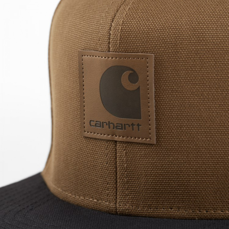 CARHARTT Logo Cap Bi-Colored Hamilton Brown / Black1