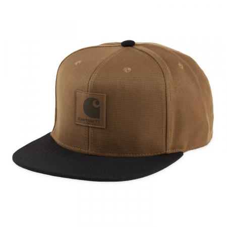 CARHARTT Logo Cap Bi-Colored Hamilton Brown / Black0
