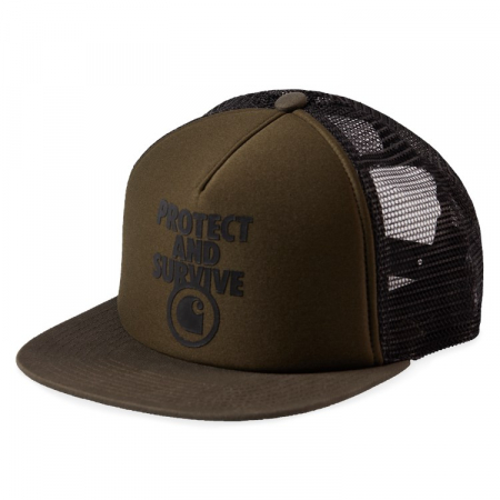 CARHARTT PROTECT & SURVIVE TRUCKER CAP CYPRESS / BLACK0